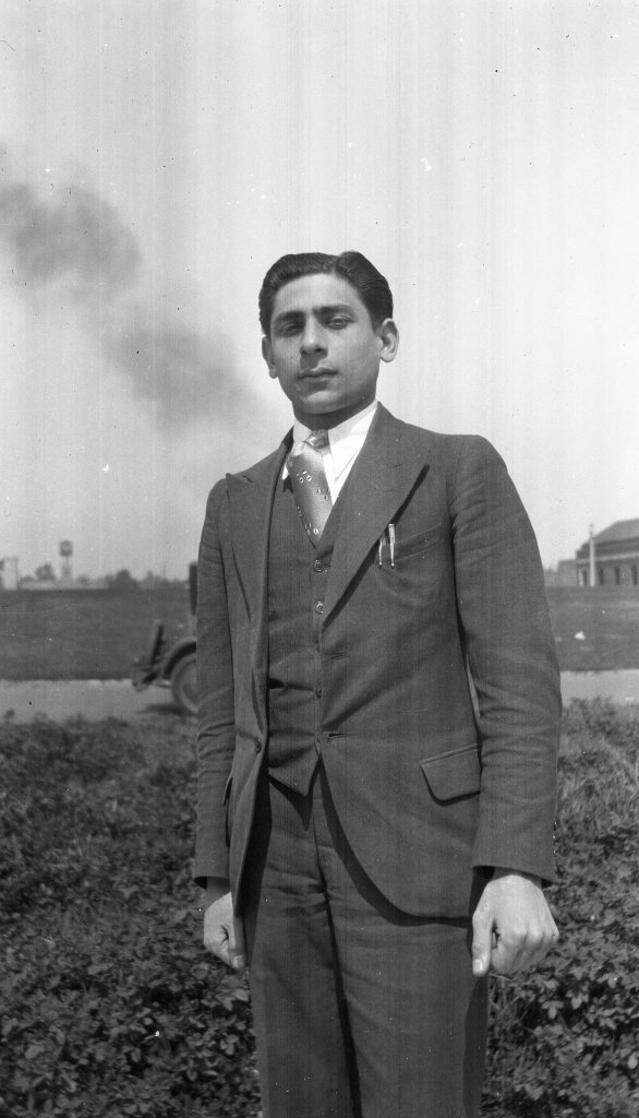 Tony Riccio in a three piece suit, 1930s.