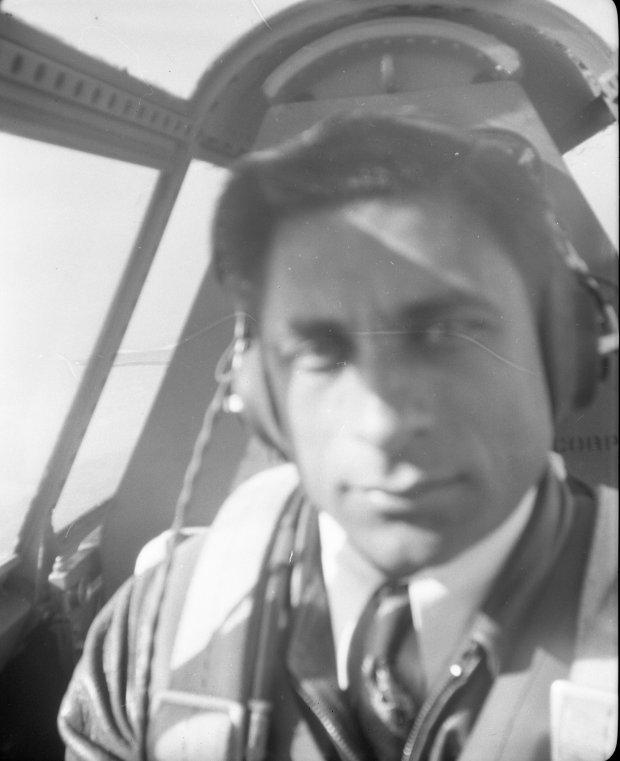 Tony Riccio piloting a P-47.