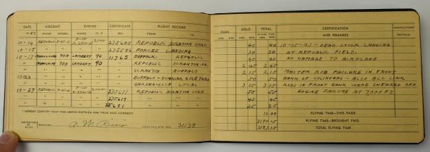 Tony's logbook.