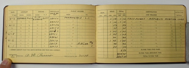 One of Tony's many logbooks.